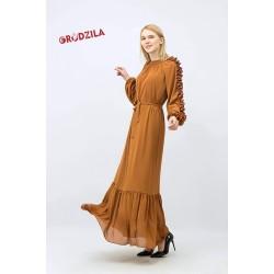 فستان شيفون ليكرا
